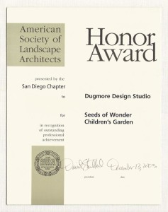 Honor Award American Society of Landscape, Dugmore Design Studio, Seeds of Wonder Children't Garden